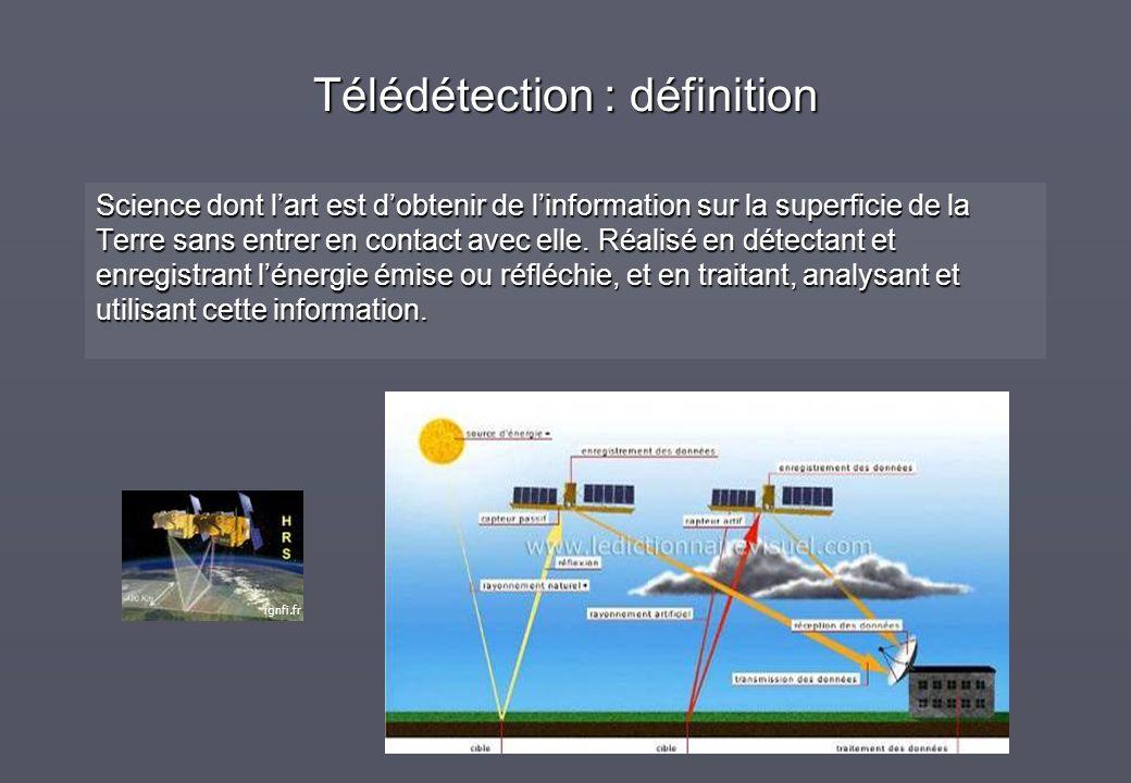 Télédétection : définition