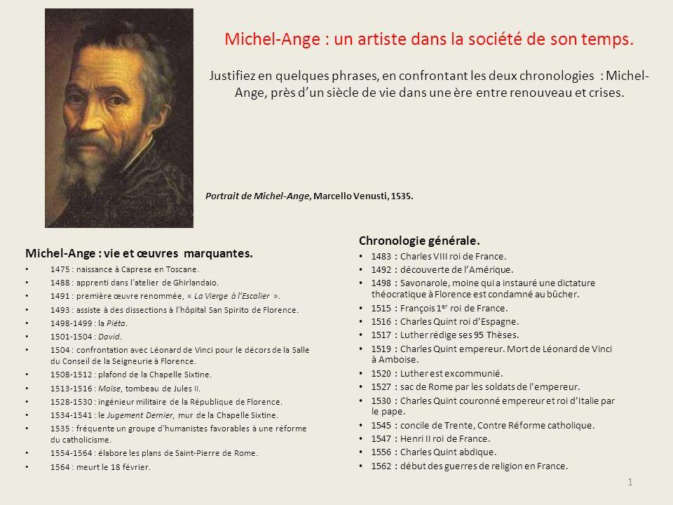 Michel-Ange : un artiste dans la société de son temps