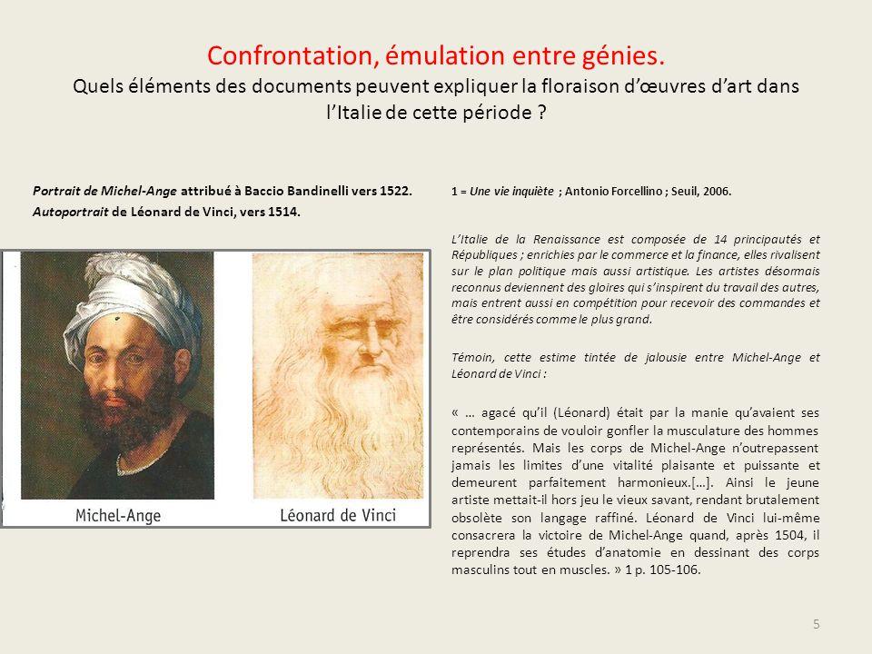 Confrontation, émulation entre génies