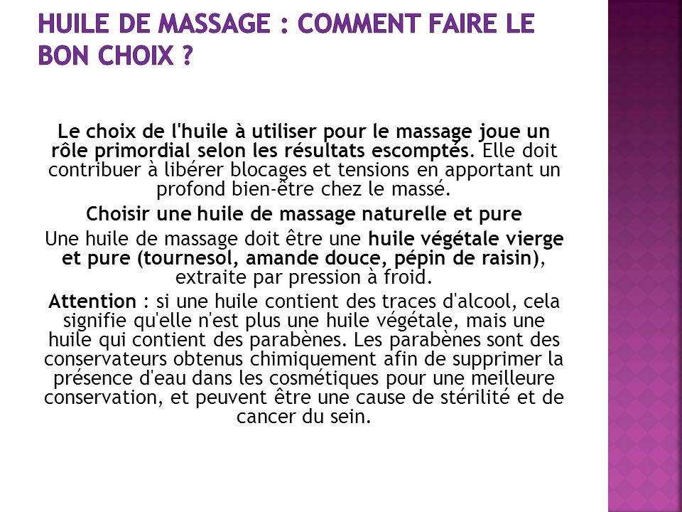 Huile de massage : comment faire le bon choix