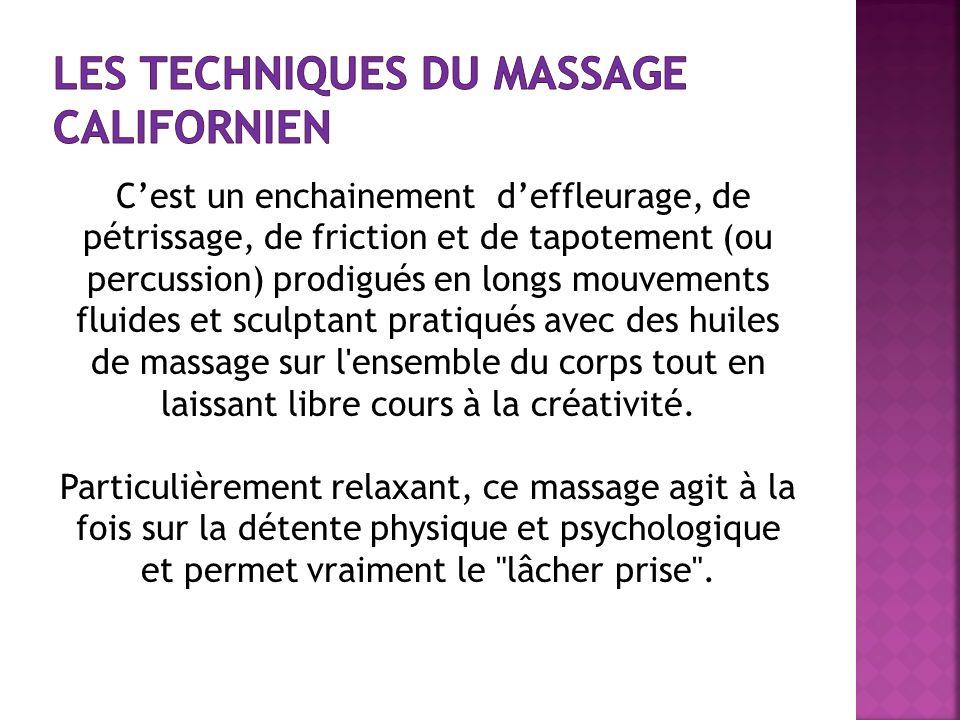 Les techniques du massage californien