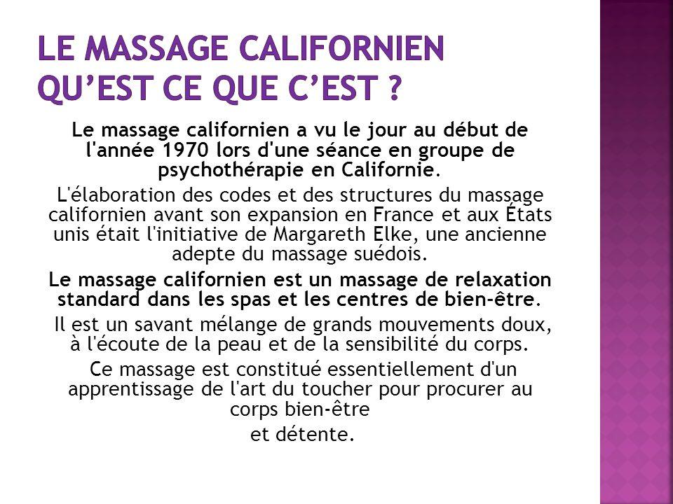 Le massage californien qu'est ce que c'est