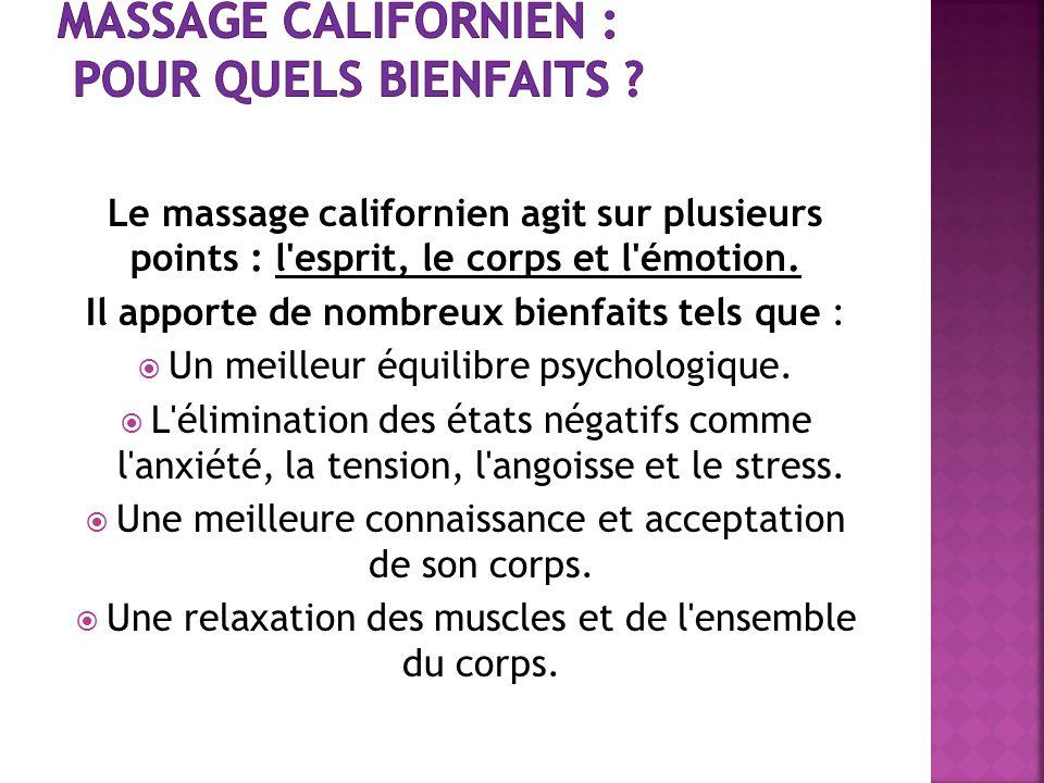 Massage californien : pour quels bienfaits