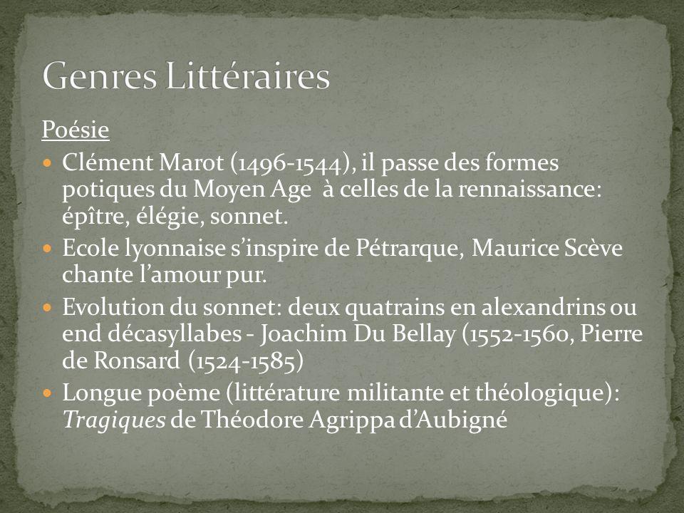 Genres Littéraires Poésie