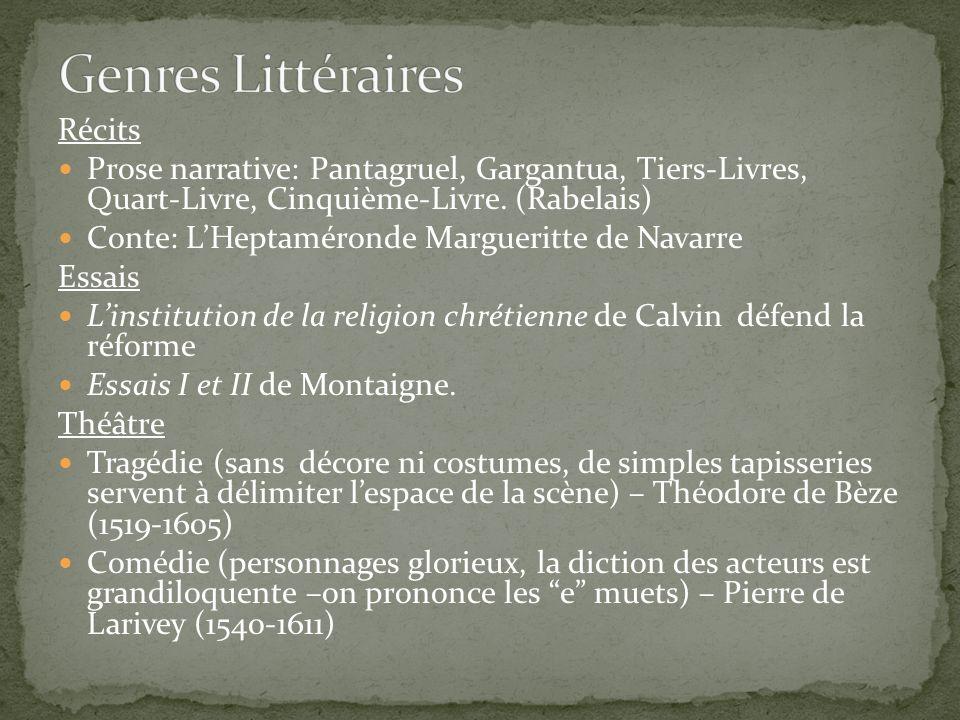 Genres Littéraires Récits