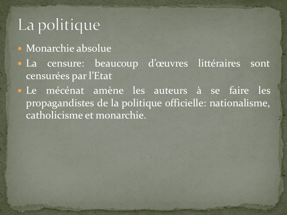 La politique Monarchie absolue