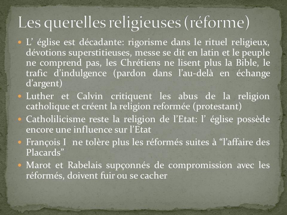 Les querelles religieuses (réforme)
