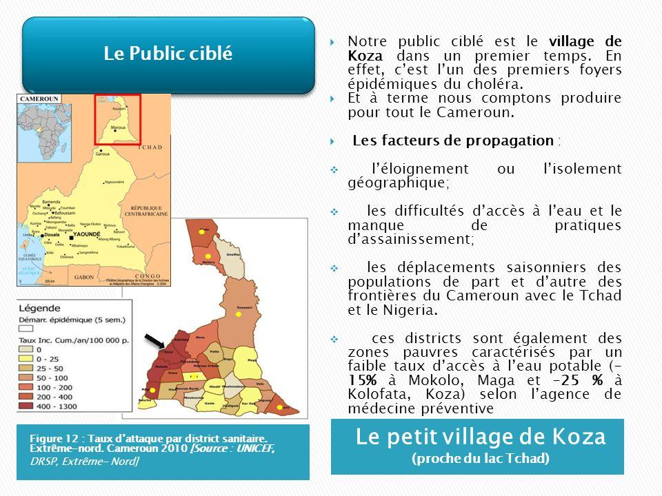 Le petit village de Koza (proche du lac Tchad)