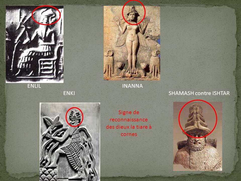 Signe de reconnaissance des dieux la tiare à cornes