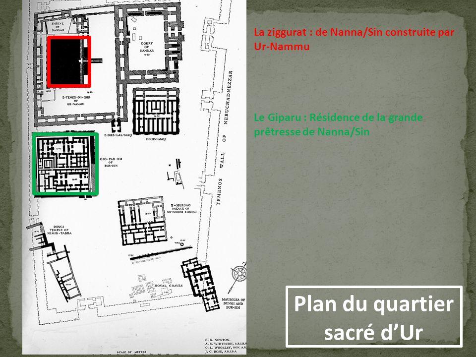 Plan du quartier sacré d'Ur
