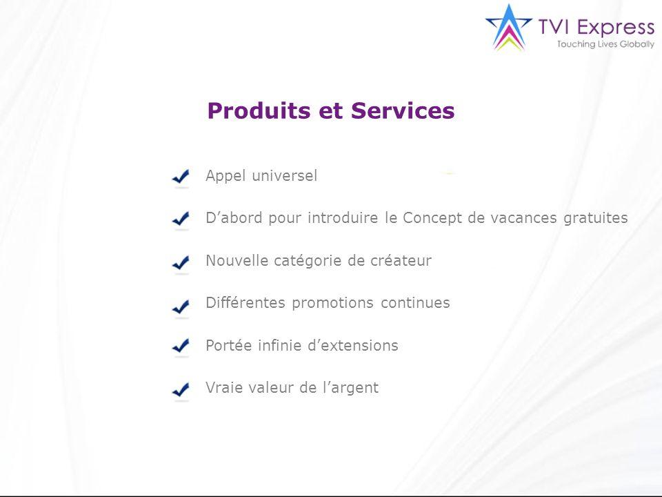 Produits et Services Appel universel