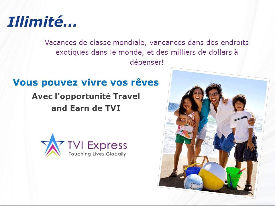 Vous pouvez vivre vos rêves Avec l'opportunité Travel