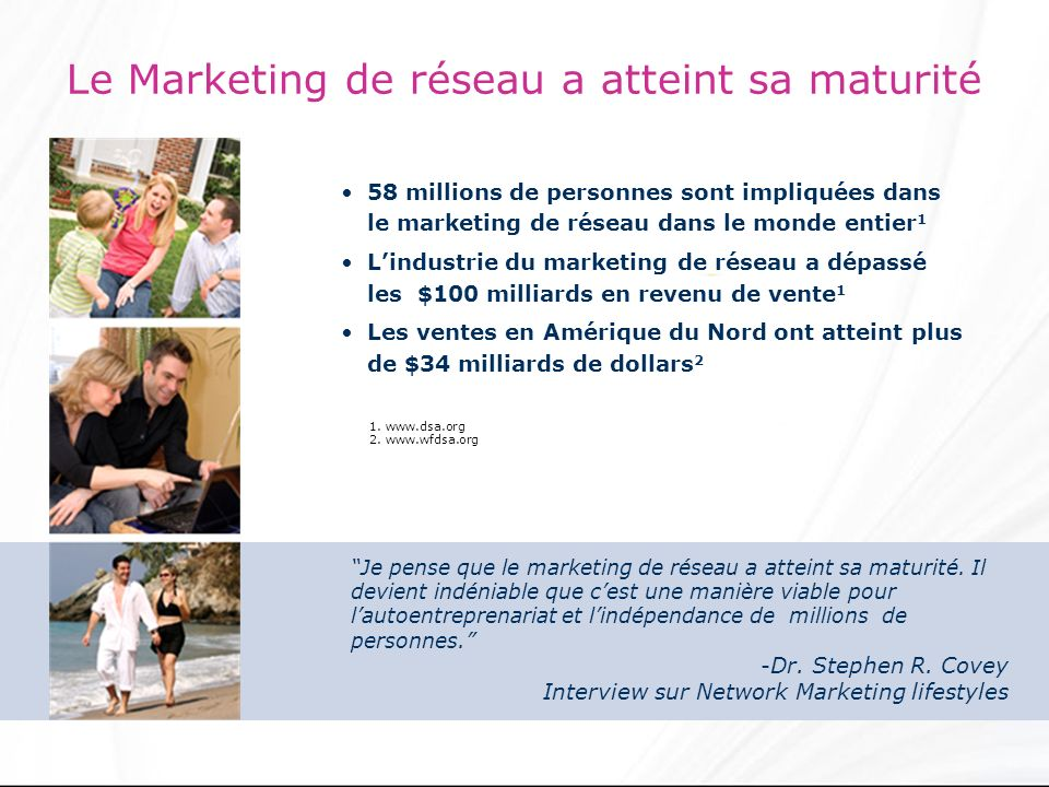 Le Marketing de réseau a atteint sa maturité