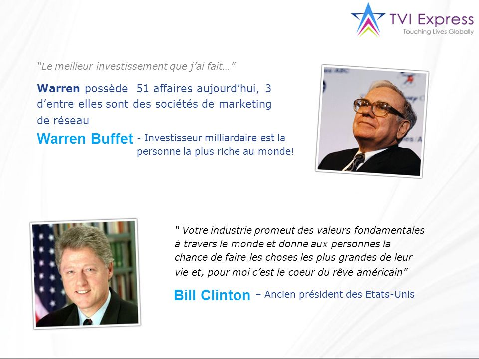 Warren Buffet Bill Clinton