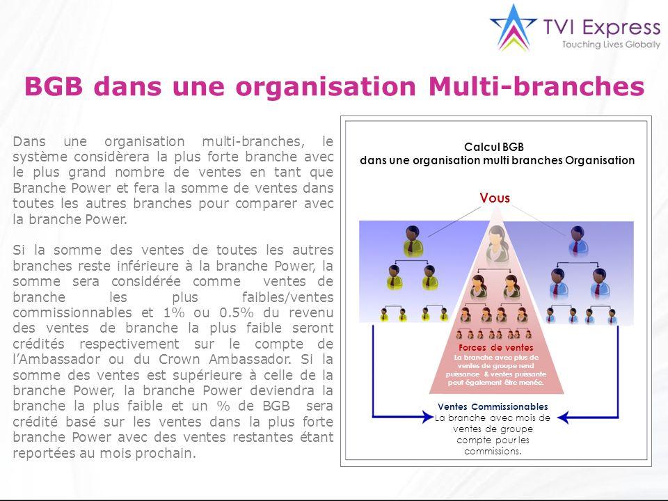 3 BGB dans une organisation Multi-branches