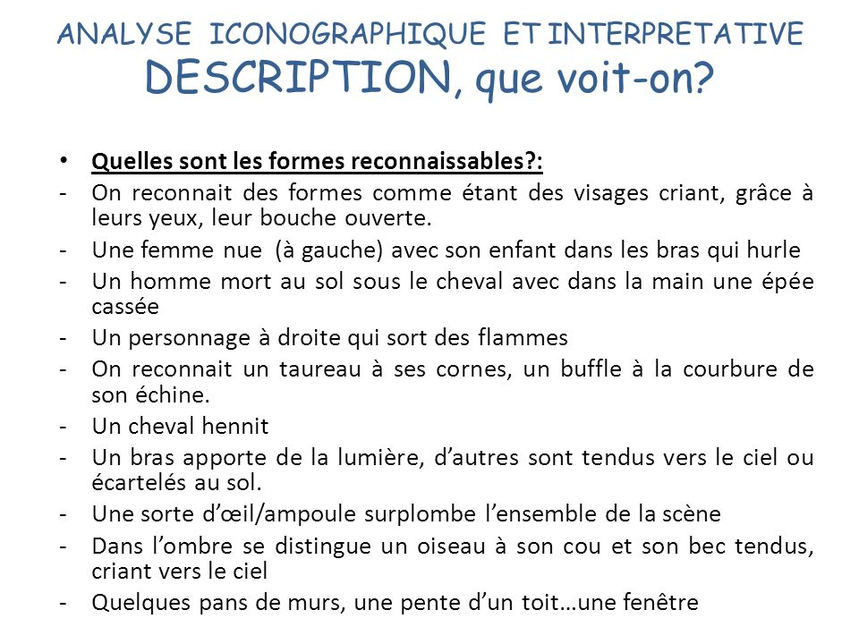 ANALYSE ICONOGRAPHIQUE ET INTERPRETATIVE DESCRIPTION, que voit-on