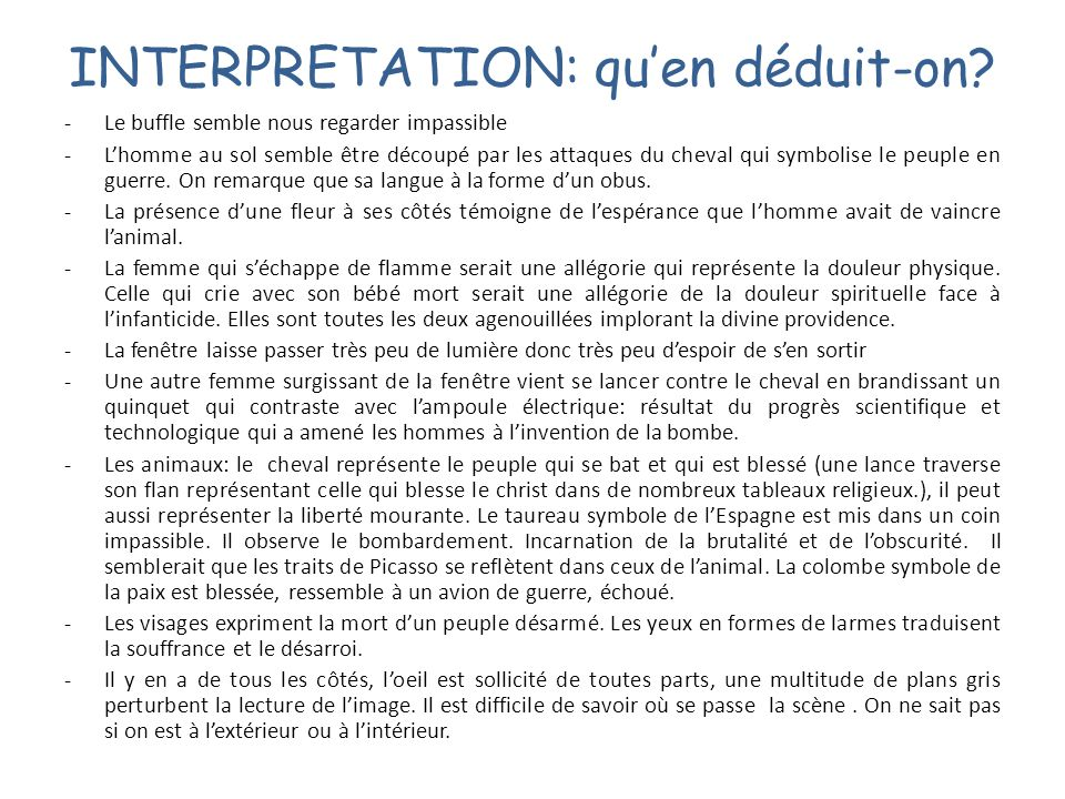 INTERPRETATION: qu'en déduit-on