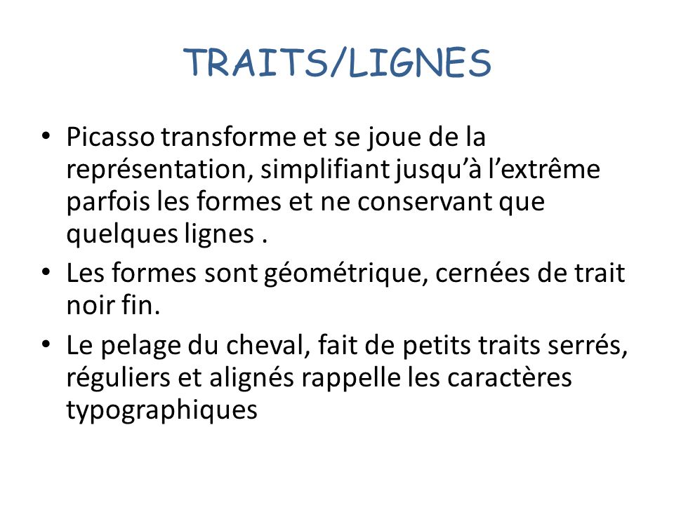 TRAITS/LIGNES
