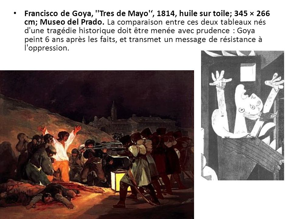 Francisco de Goya, Tres de Mayo ', 1814, huile sur toile; 345 × 266 cm; Museo del Prado.