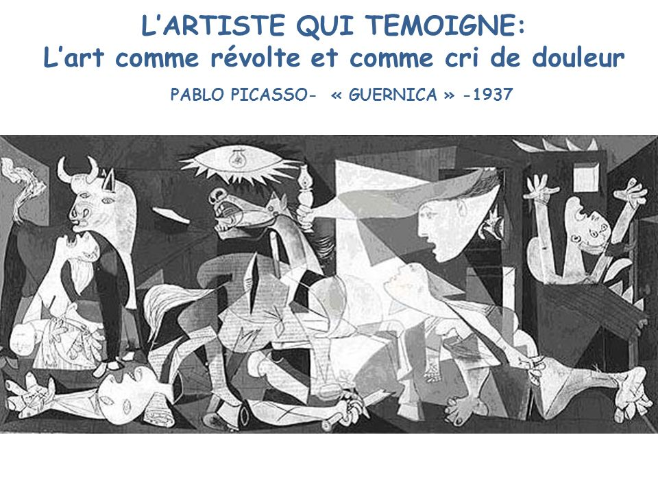 L'ARTISTE QUI TEMOIGNE: L'art comme révolte et comme cri de douleur