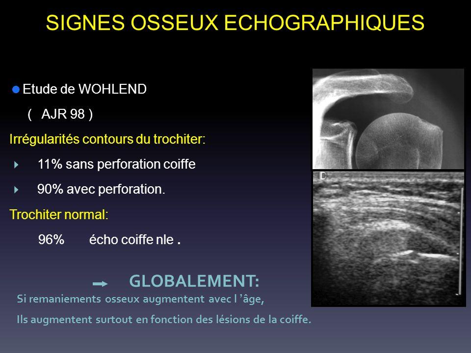 SIGNES OSSEUX ECHOGRAPHIQUES