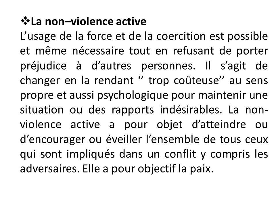 La non–violence active