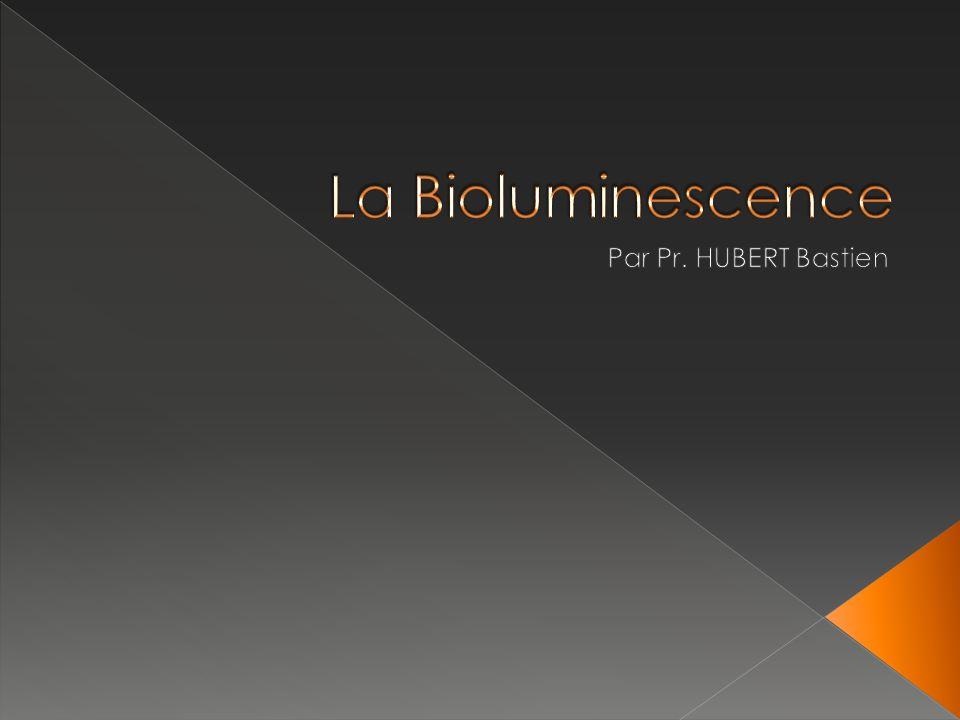 La Bioluminescence Par Pr. HUBERT Bastien