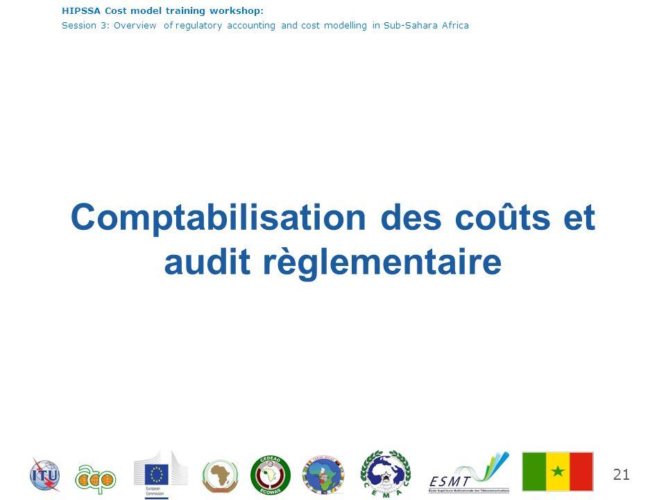 Comptabilisation des coûts et audit règlementaire