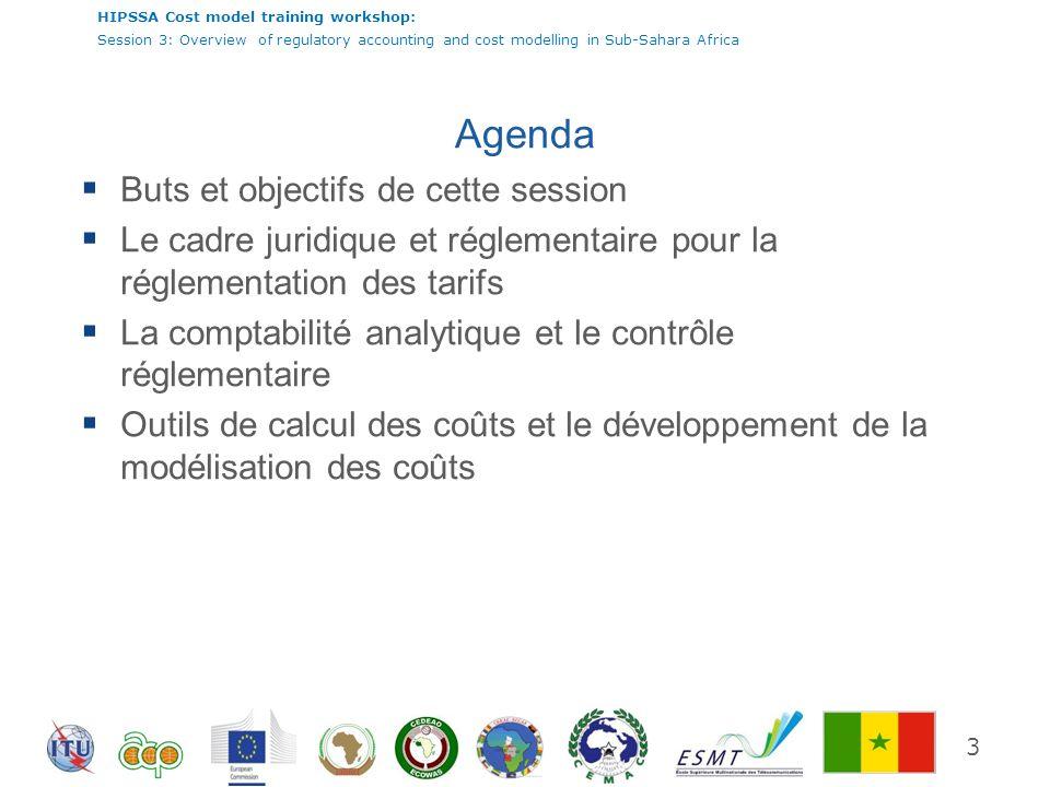 Agenda Buts et objectifs de cette session