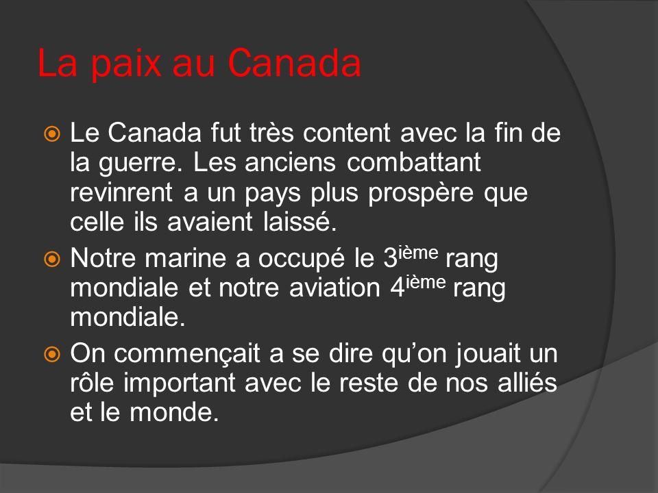 La paix au Canada