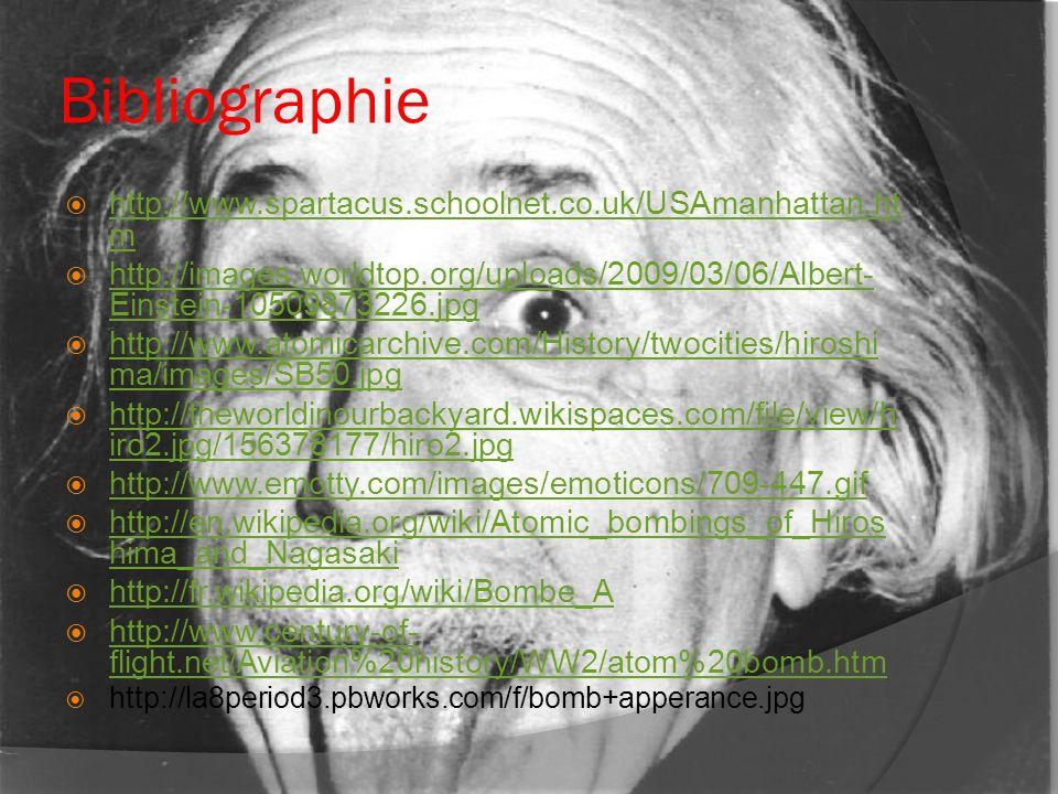 Bibliographie http://www.spartacus.schoolnet.co.uk/USAmanhattan.htm