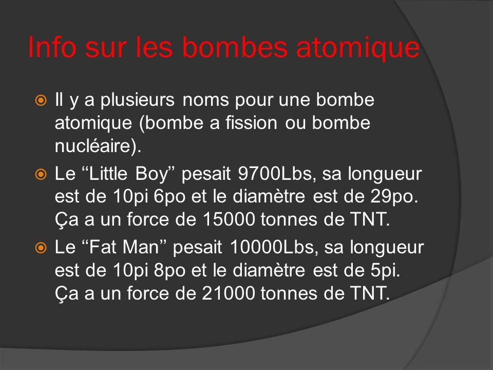 Info sur les bombes atomique