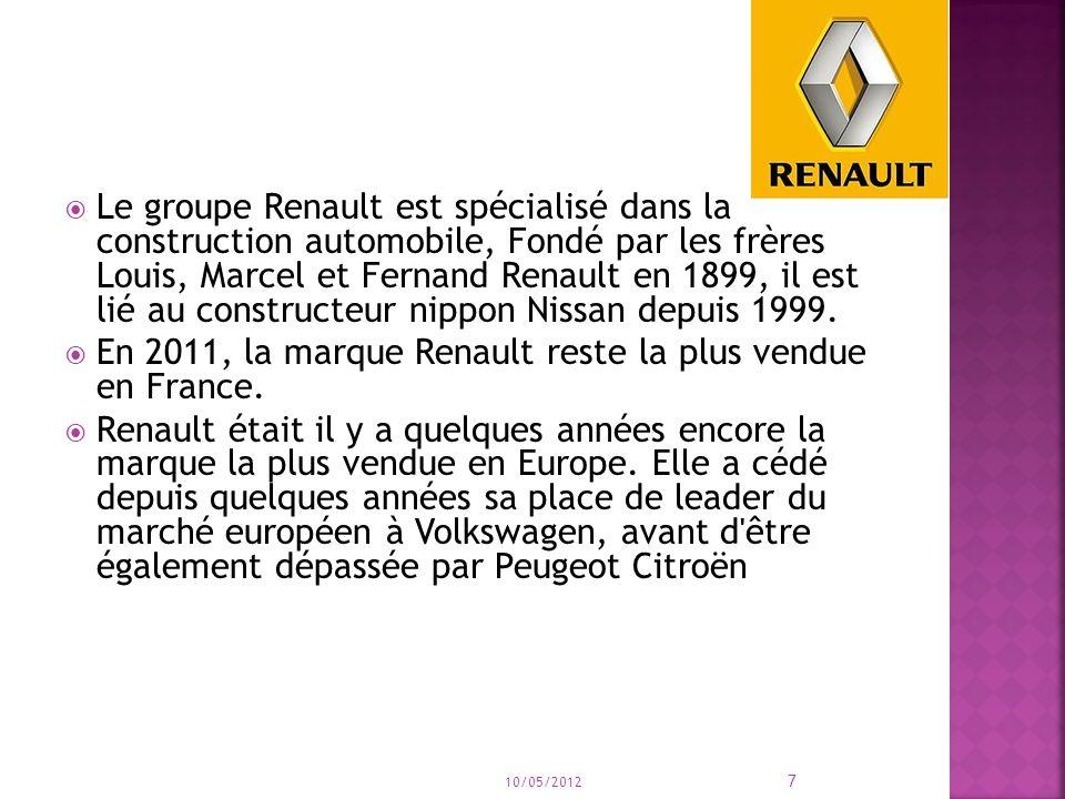 En 2011, la marque Renault reste la plus vendue en France.