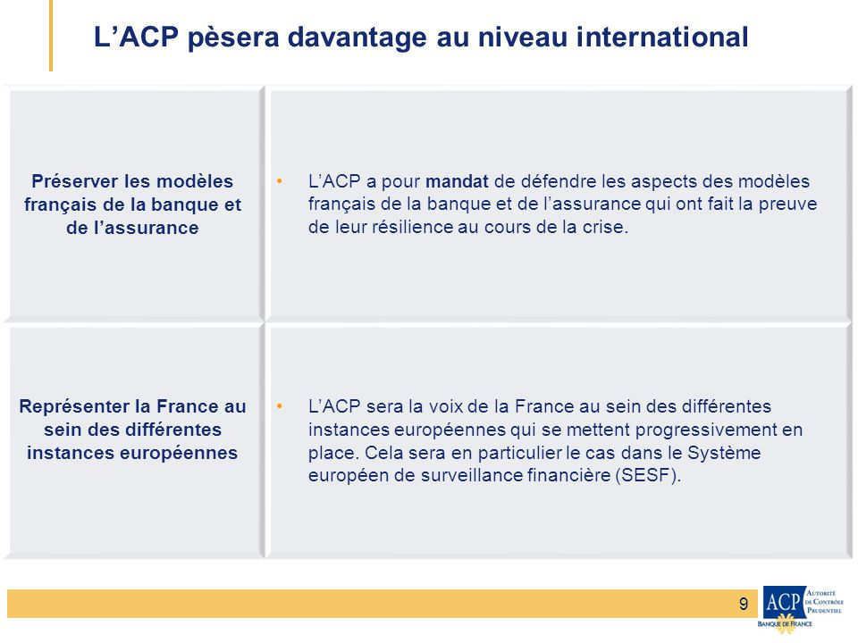 L'ACP pèsera davantage au niveau international