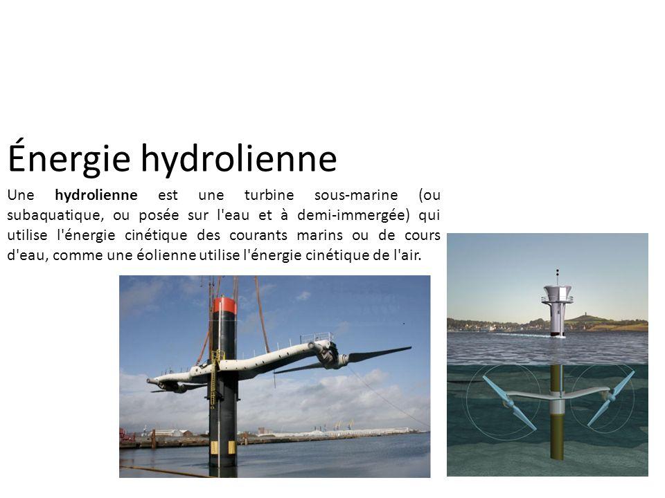 Énergie hydrolienne