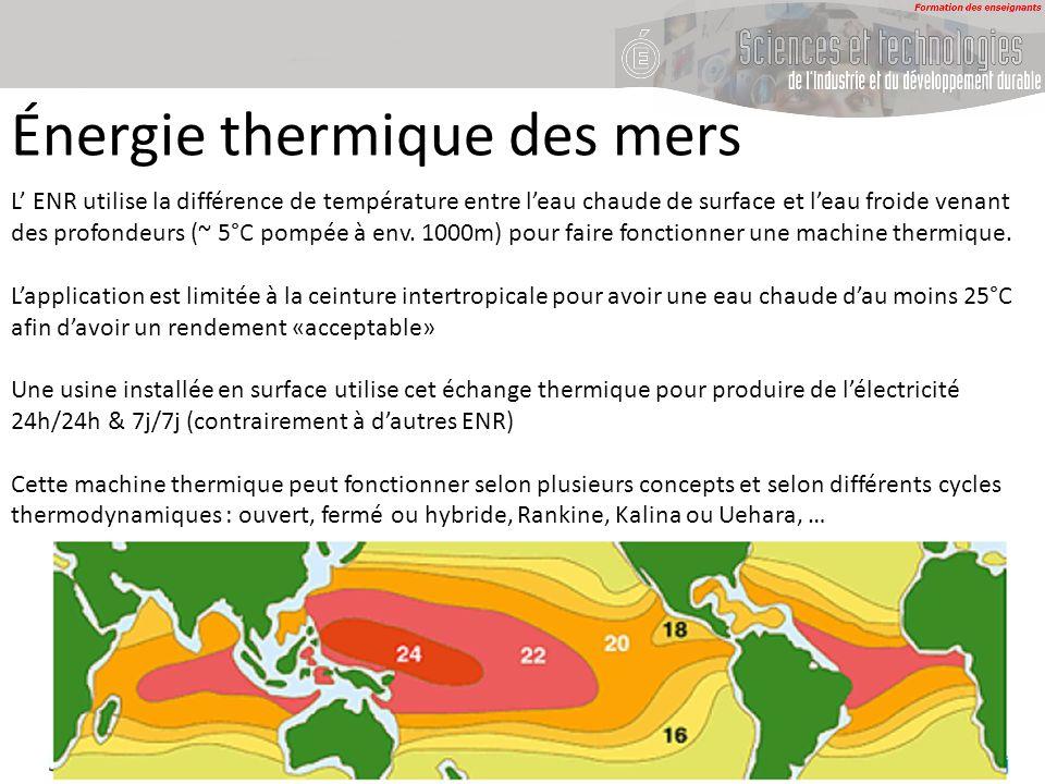 Énergie thermique des mers