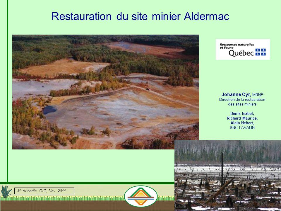 Restauration du site minier Aldermac