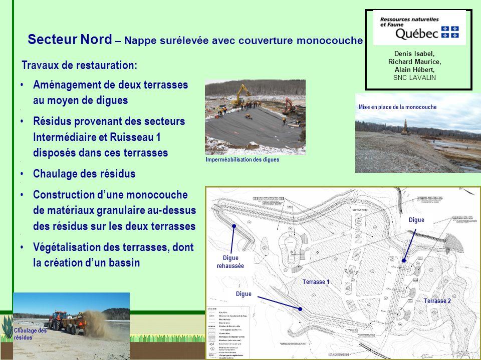 Secteur Nord – Nappe surélevée avec couverture monocouche