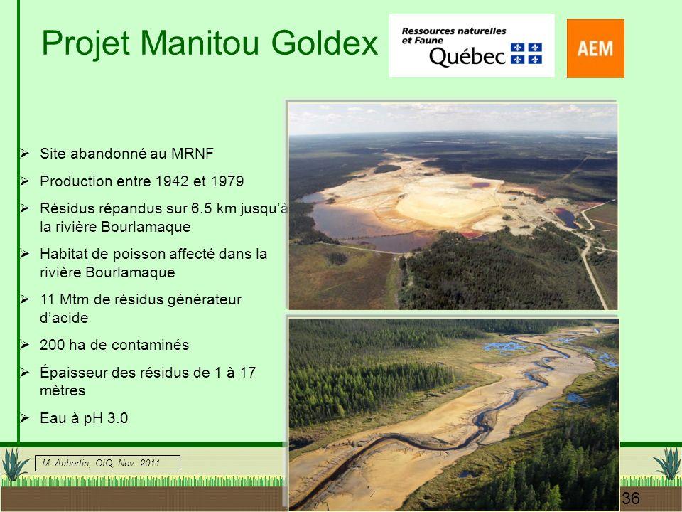 Projet Manitou Goldex Site abandonné au MRNF