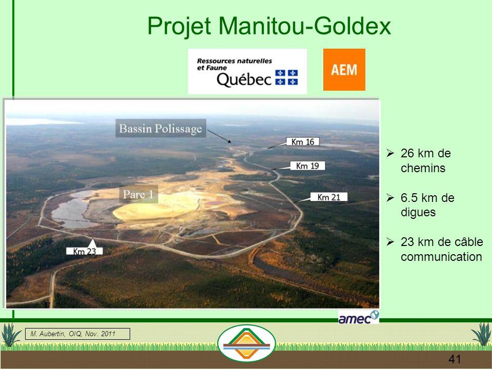 Projet Manitou-Goldex
