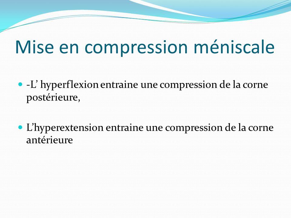 Mise en compression méniscale