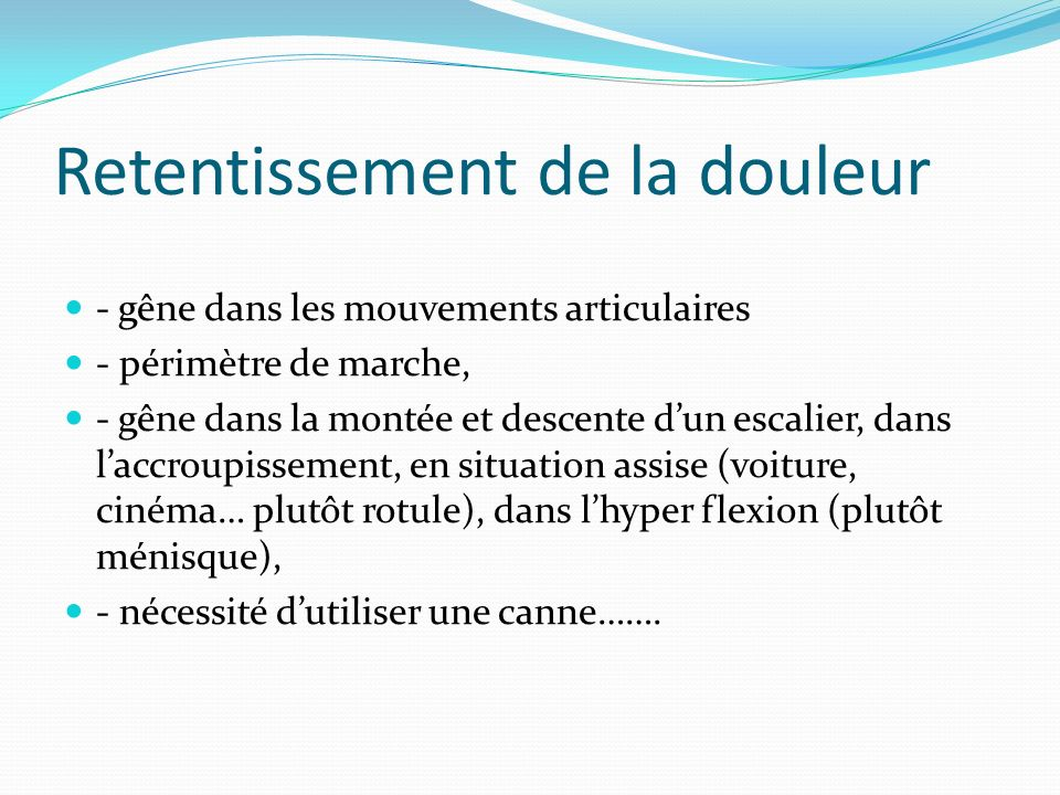 examen clinique du genou docteur alain moutet marseille ppt t 233 l 233 charger