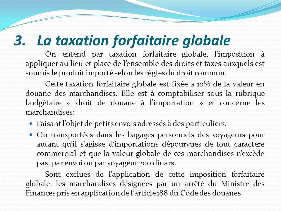 La taxation forfaitaire globale