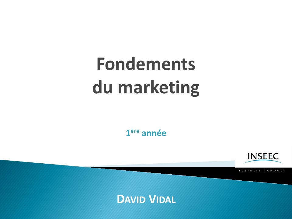 Fondements du marketing