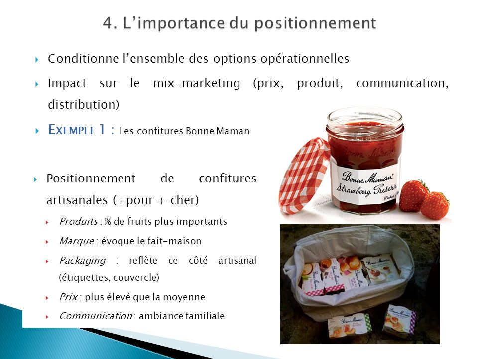 4. L'importance du positionnement