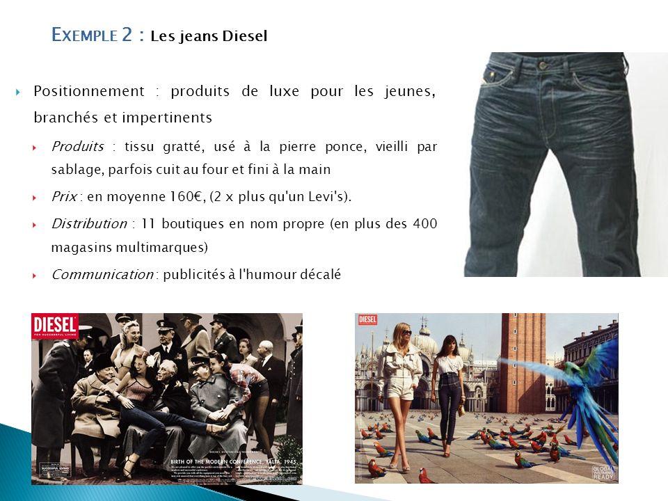 Exemple 2 : Les jeans Diesel