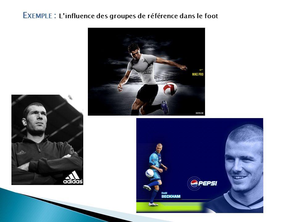 Exemple : L'influence des groupes de référence dans le foot