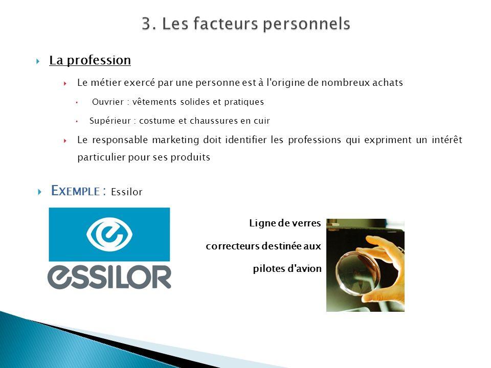 3. Les facteurs personnels