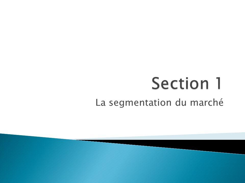 La segmentation du marché