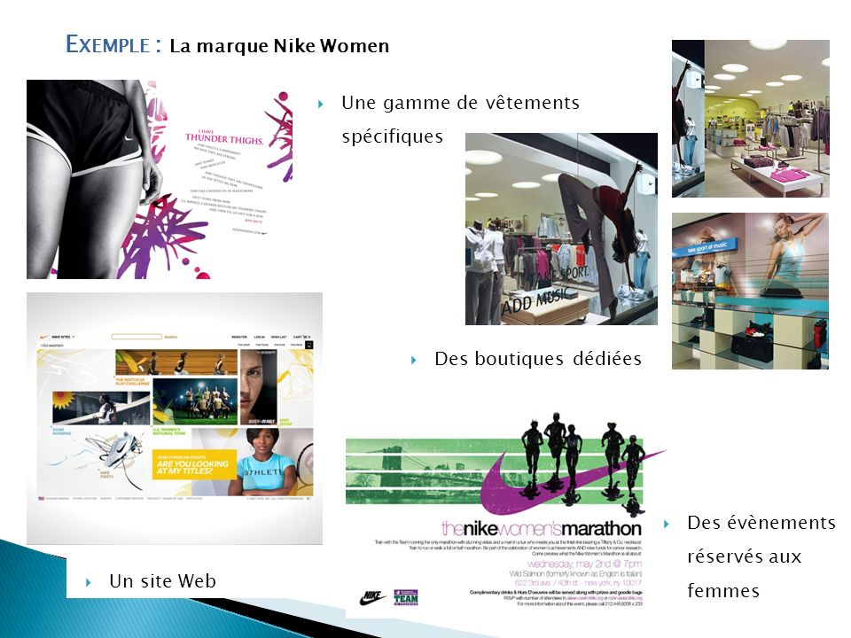 Exemple : La marque Nike Women